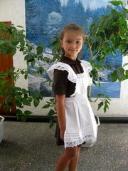 Школьное платье СССР с коротким рукавом