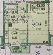 1 кімнатна квартира в Парковій зоні