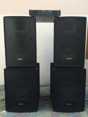 Продам комплект акустики Acoustic с усилителем мощности